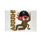 Pirate Monkey Rectangle Magnet