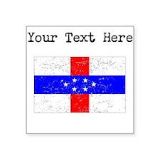 Old Netherlands Antilles Flag Sticker