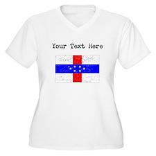 Old Netherlands Antilles Flag Plus Size T-Shirt