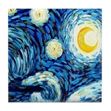 Van Gogh Starry Night Tile Coaster