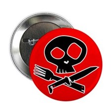 """REDRED Foodie Skull2.25"""" Button (10 pack)"""