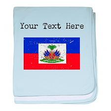 Haiti Flag baby blanket