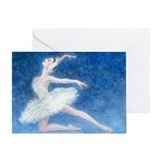 Swan Single Greeting Card