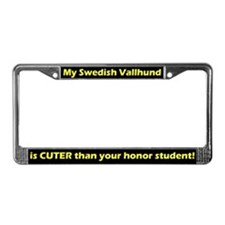 Honor Student Vallhund License Plate Frame