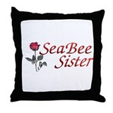 seabee sister Throw Pillow
