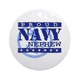 Proud Navy Nephew Ornament (Round)