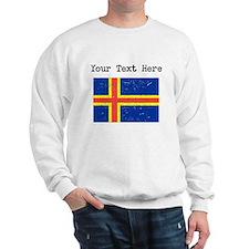 Aland Islands Flag Sweatshirt