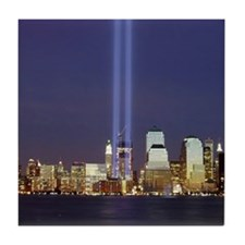 WTC Memorial Lights Tile Coaster