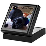 I Love Pugs Keepsake Box
