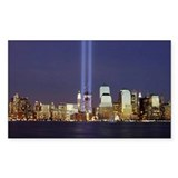 WTC Memorial Lights Rectangle Decal