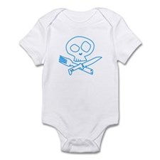 Blue Foodie Skull Infant Bodysuit