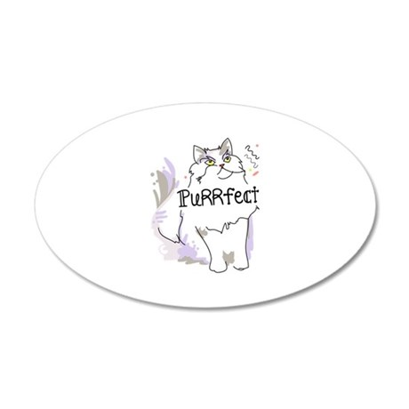 Persian purr-fect cat Wall Decal