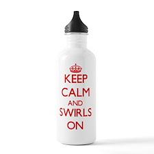 Keep Calm and Swirls O Water Bottle
