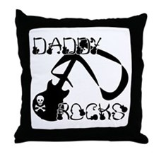 DADDY ROCKS! Throw Pillow