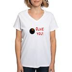 OLIVE YOU Women's V-Neck T-Shirt