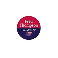 """Fred Thompson for President"" Mini Button (10)"