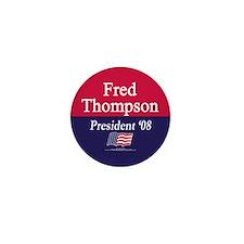 """""""Fred Thompson for President"""" Mini Button"""