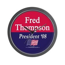 """Fred Thompson for President"" Wall Clock"