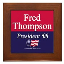 """Fred Thompson for President"" Framed Tile"