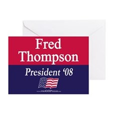 """Fred Thompson for President"" Greeting Cards (6)"