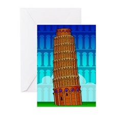 The Leaning Tower Greeting Cards (Pk of 10)