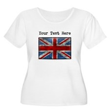 Dirty United Kingdom Flag (Custom) Plus Size T-Shi