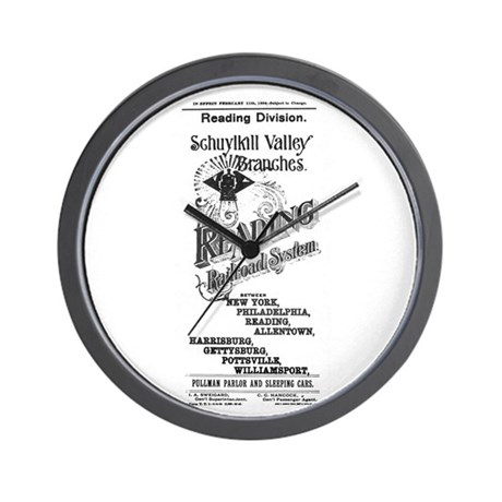 Reading Railroad System 1894 Wall Clock