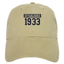 Established 1933 Baseball Cap