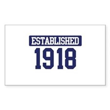 Established 1918 Rectangle Decal