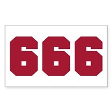 666 Rectangle Decal