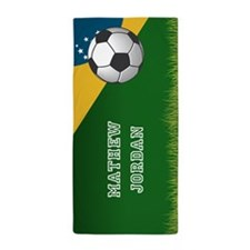 Personalized Soccer Brazil Sports Them Beach Towel