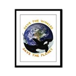 Earth & Orca Framed Panel Print