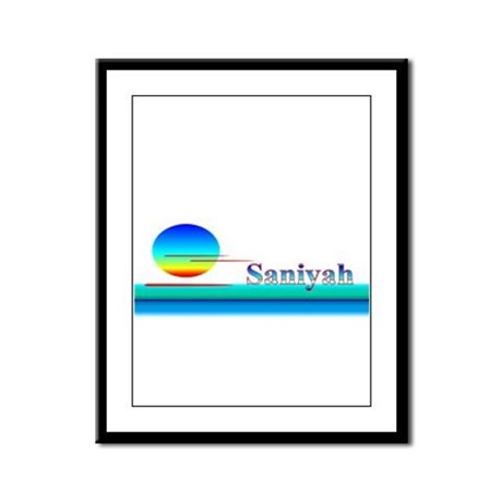 Saniyah Framed Panel Print
