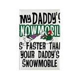 Daddy's Snowmobile Rectangle Magnet (100 pack)