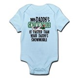 Daddy's Snowmobile Onesie