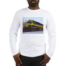 Alaska RR Railroad Locomotive Train Long Sleeve T-
