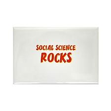 Social Science~Rocks Rectangle Magnet