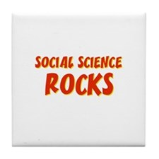 Social Science~Rocks Tile Coaster
