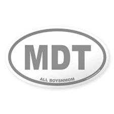 MDT ALL BOYSNMOM Euro Oval Decal