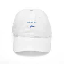 Distressed Blue Sail Fish (Custom) Baseball Baseball Cap