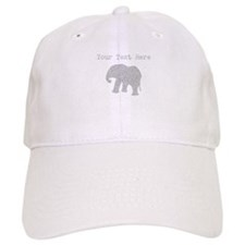 Distressed Grey Elephant (Custom) Baseball Baseball Cap