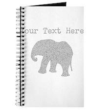Distressed Grey Elephant (Custom) Journal