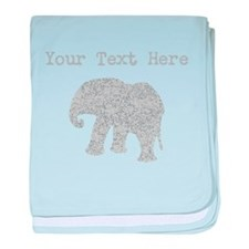 Distressed Grey Elephant (Custom) baby blanket