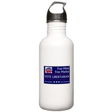 Vote Libertarian Water Bottle