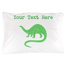 Distressed Green Brontosaurus (Custom) Pillow Case