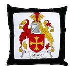 Latimer Family Crest Throw Pillow