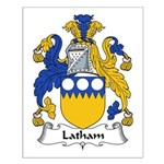 Latham Family Crest Small Poster