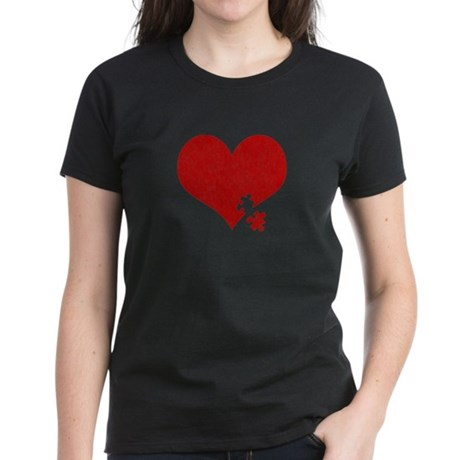 Autism Heart - Women's Dark T-Shirt