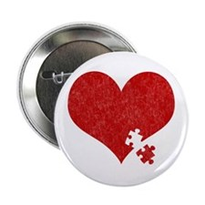 Autism Heart - Button