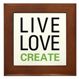 Live Love Create Framed Tile